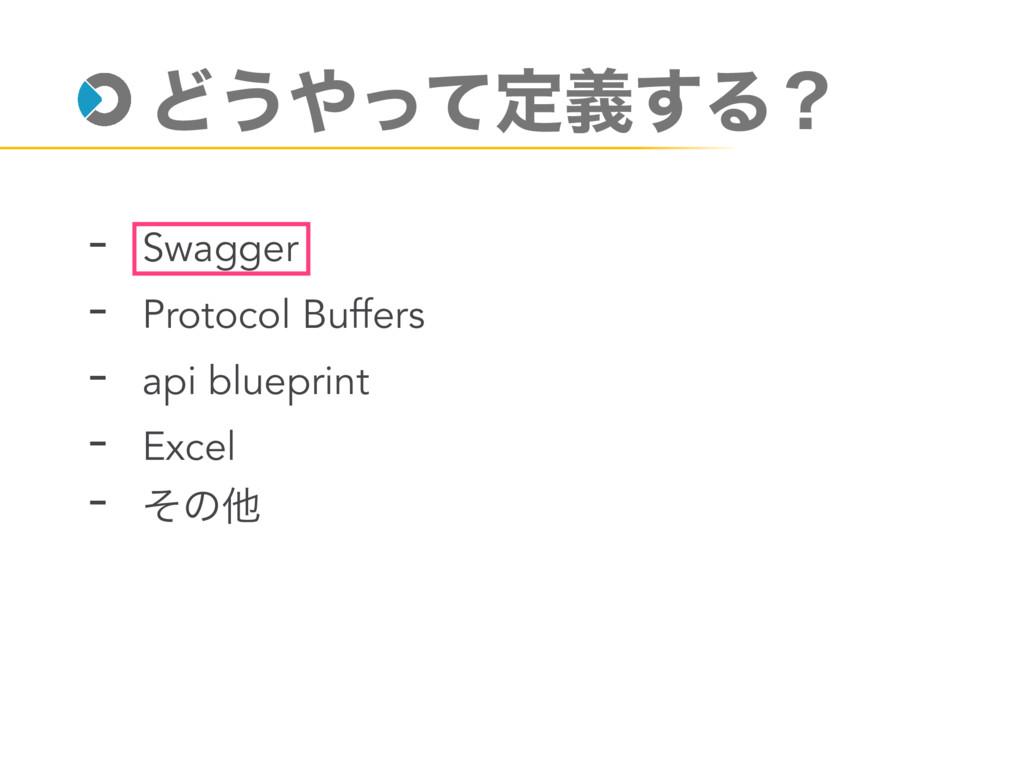 Ͳ͏ͬͯఆٛ͢Δʁ - Swagger - Protocol Buffers - api b...