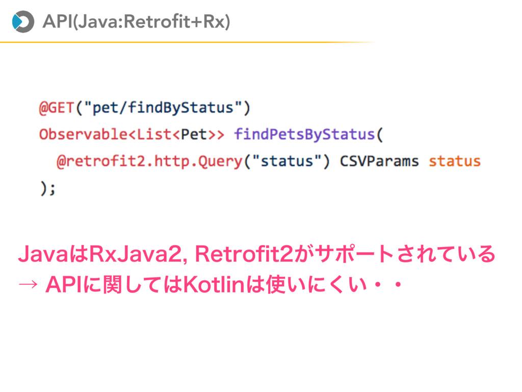 API(Java:Retrofit+Rx) +BWB3Y+BWB3FUSPpU͕αϙʔ...