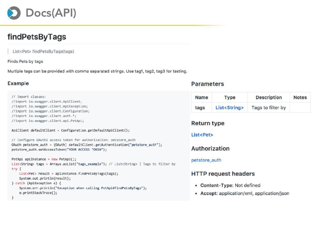 Docs(API)