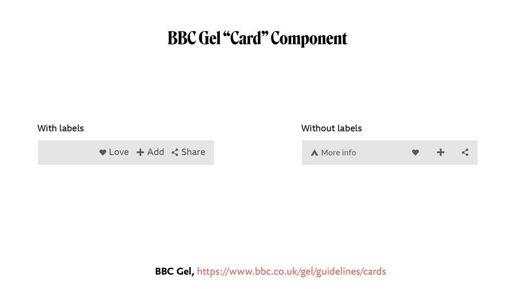 """BBC Gel """"Card"""" Component BBC Gel, https://www.b..."""