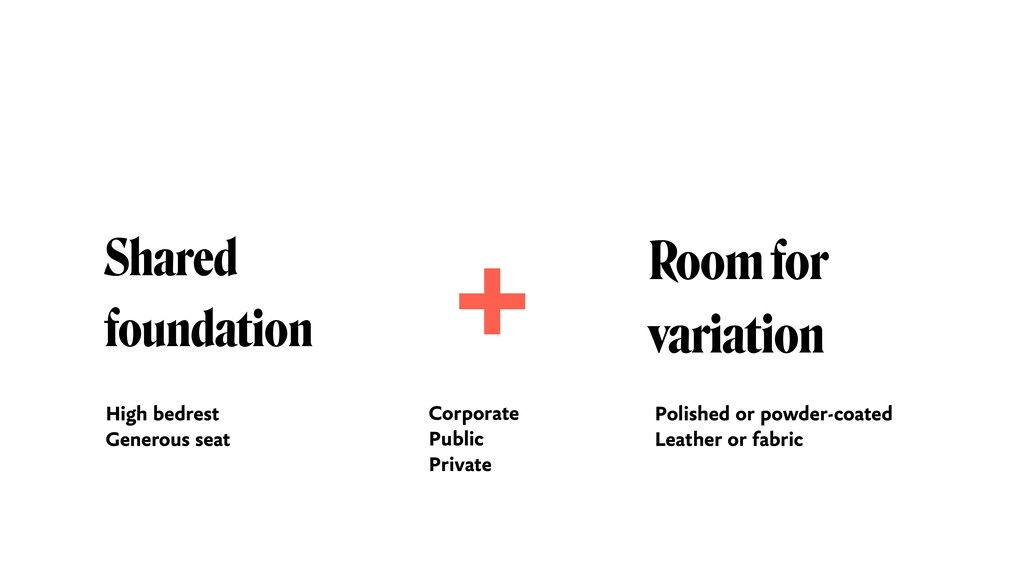 Shared foundation Room for  variation + High b...