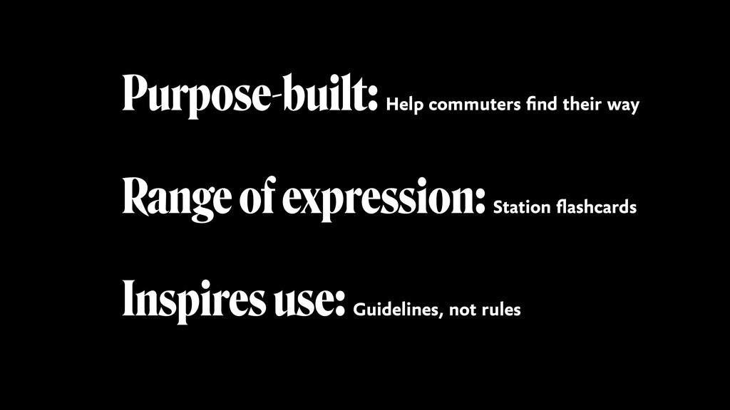 Purpose-built: Help commuters find their way Ra...