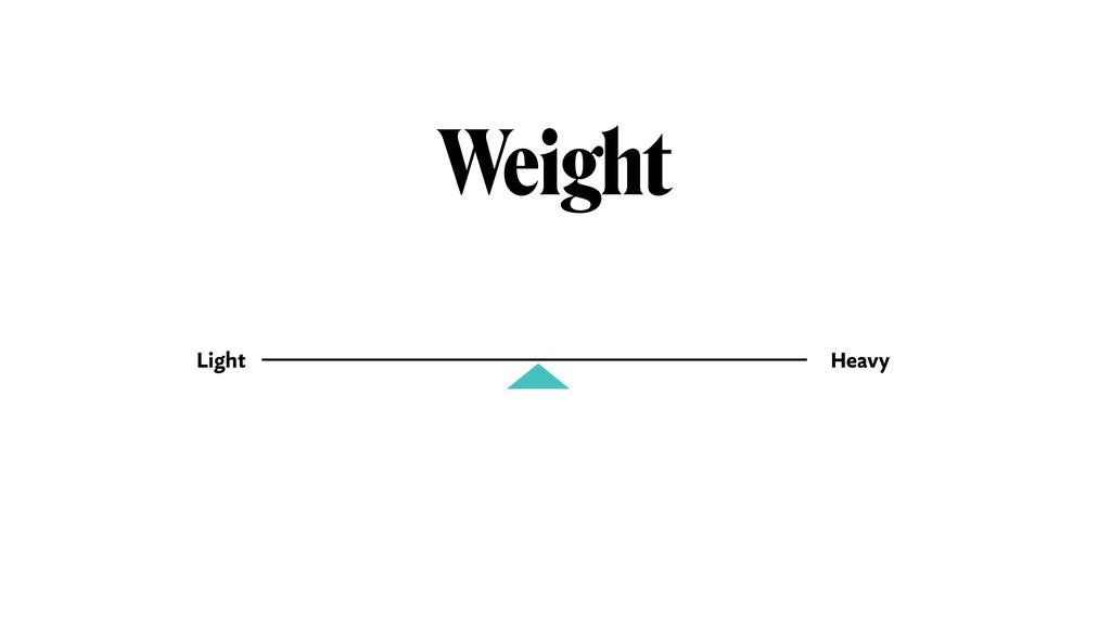 Weight Light Heavy