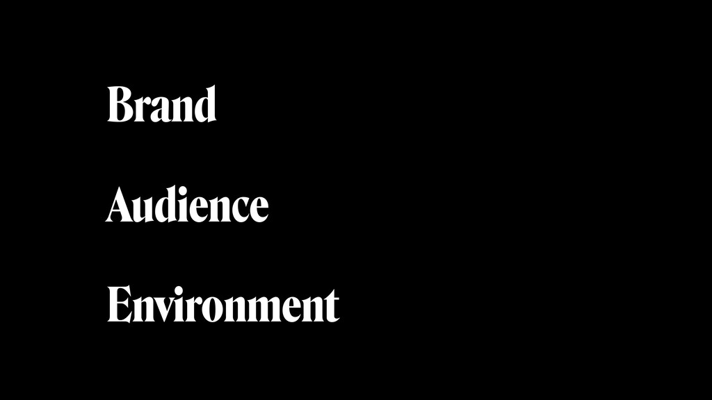 Brand Audience Environment