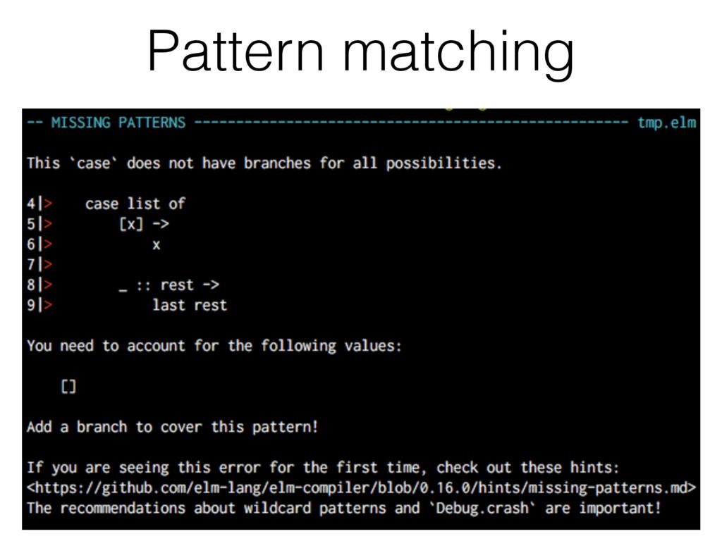 Pattern matching