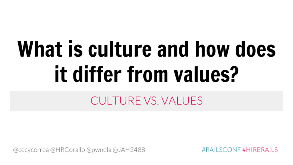 CULTURE VS. VALUES What is culture and how does...