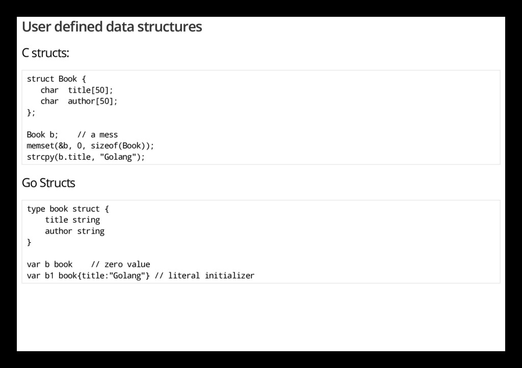 User de ned data structures C structs: struct B...