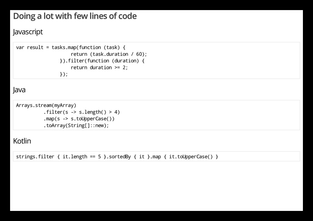 Doing a lot with few lines of code Javascript v...