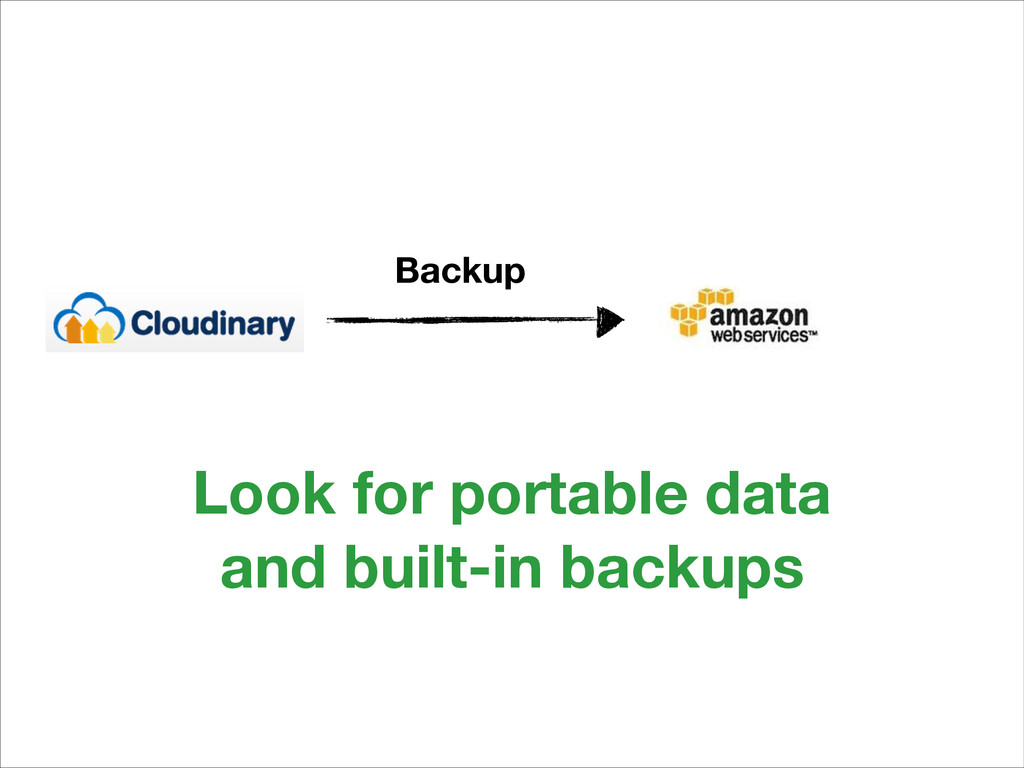Backup Look for portable data and built-in back...