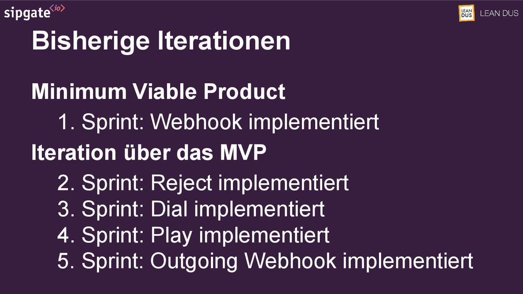 Minimum Viable Product 1. Sprint: Webhook imple...
