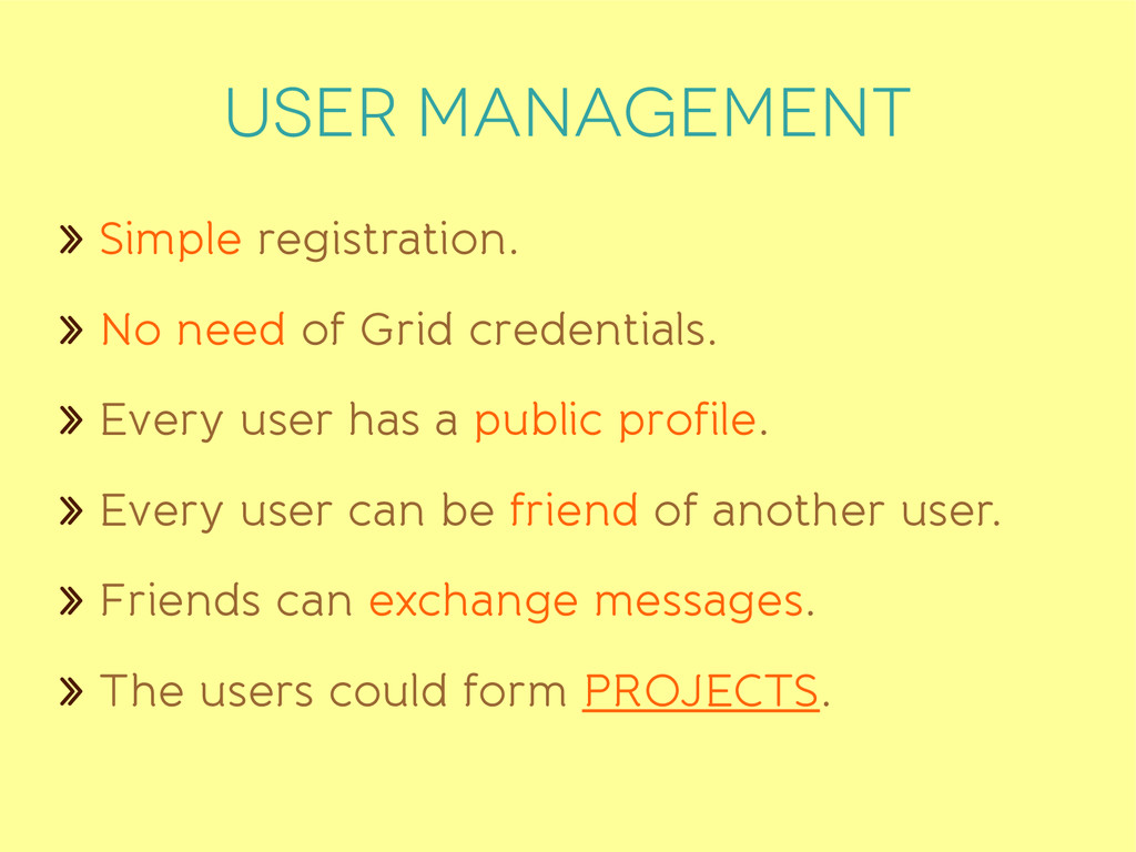 User management » Simple registration. » No nee...