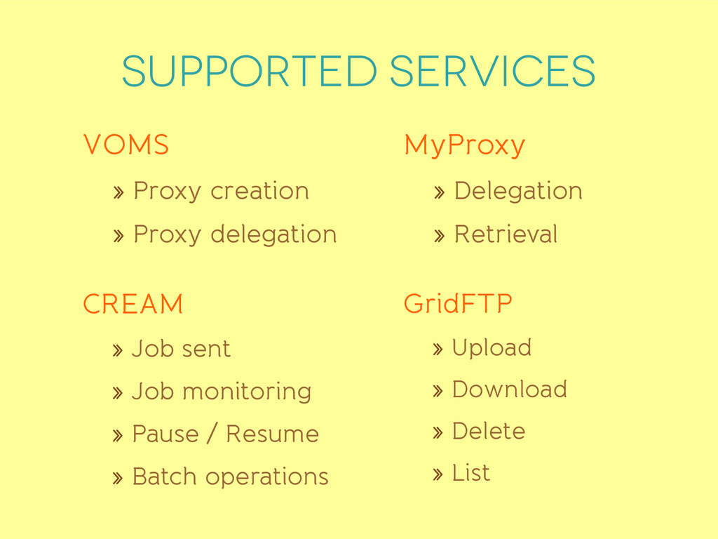 Supported services VOMS » Proxy creation » Prox...
