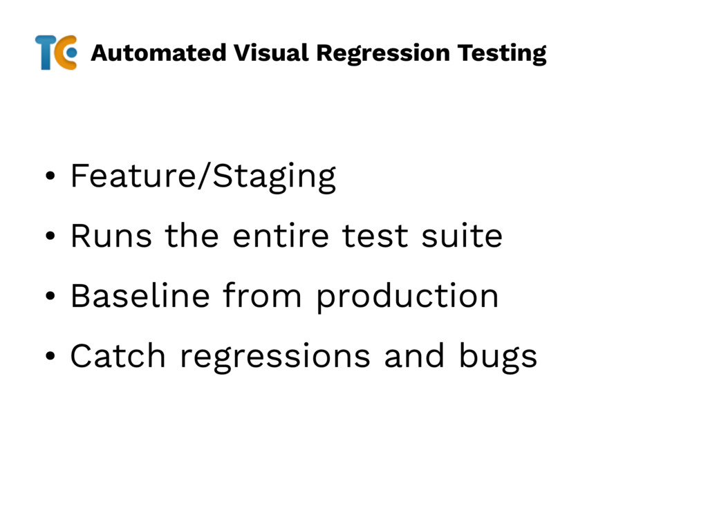 Automated Visual Regression Testing • Feature/S...