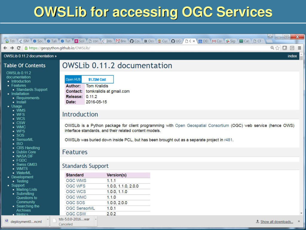 OWSLib for accessing OGC Services