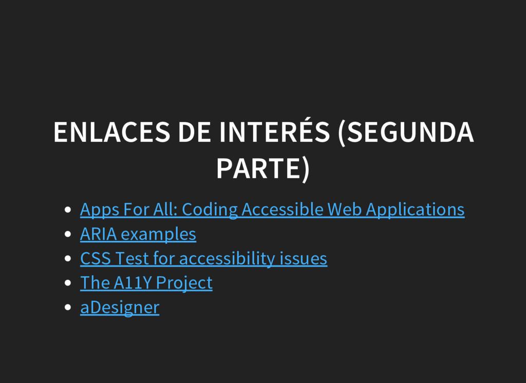 ENLACES DE INTERÉS (SEGUNDA PARTE) Apps For All...