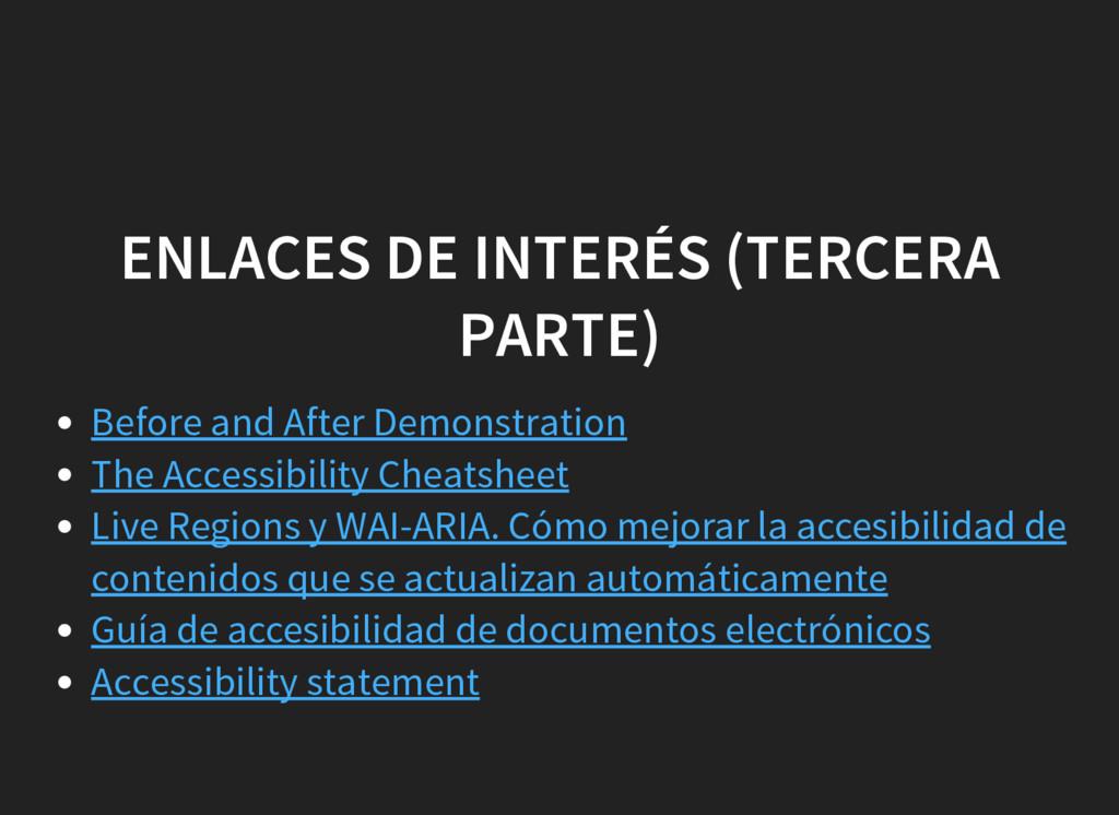 ENLACES DE INTERÉS (TERCERA PARTE) Before and A...