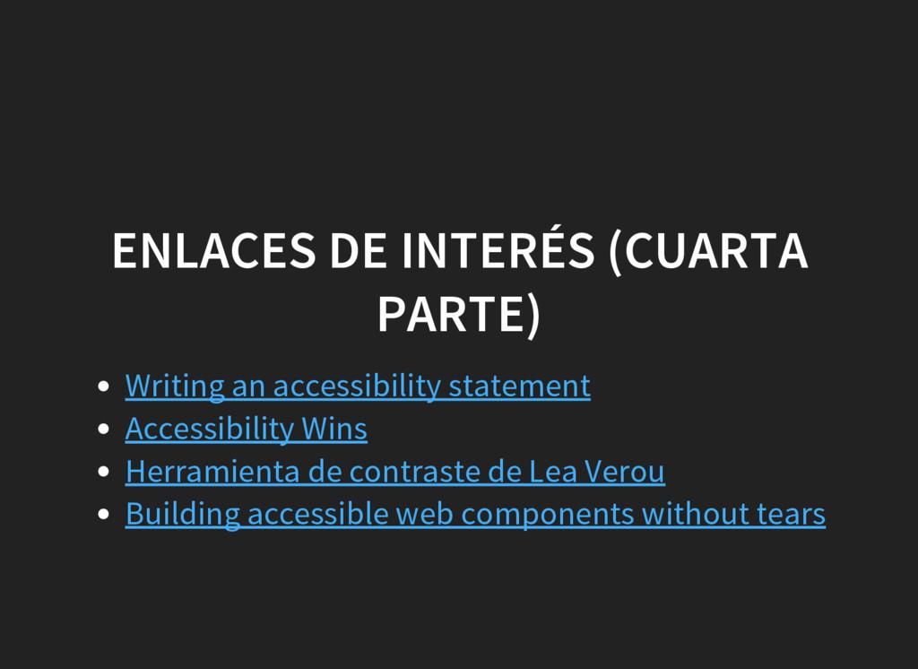 ENLACES DE INTERÉS (CUARTA PARTE) Writing an ac...