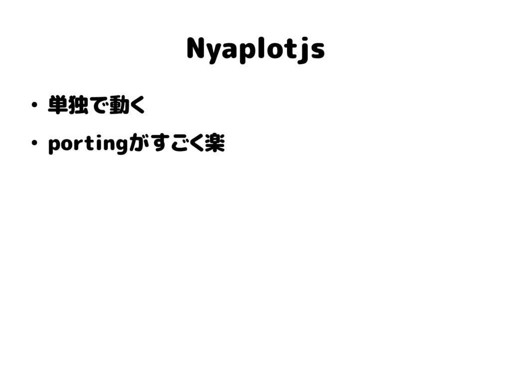 Nyaplotjs ● 単独で動く ● portingがすごく楽
