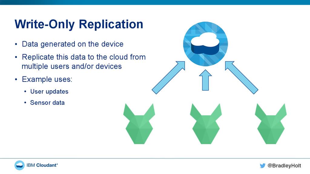 @BradleyHolt! Write-Only Replication • Data ge...