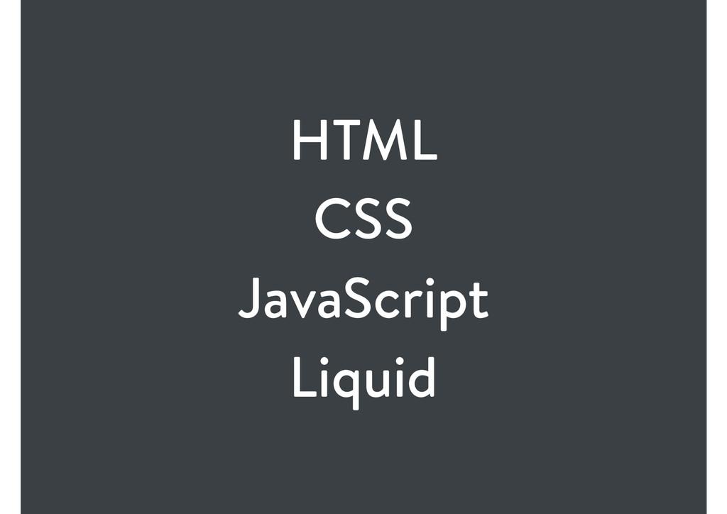 HTML CSS JavaScript Liquid