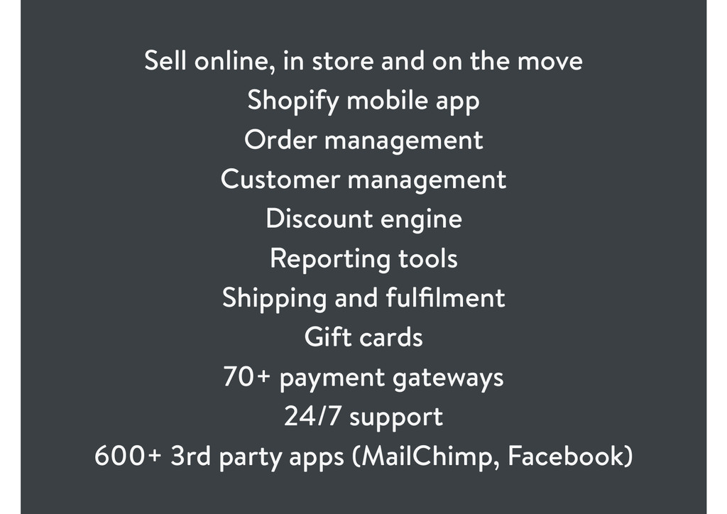 Sell online, in store and on the move Shopify m...