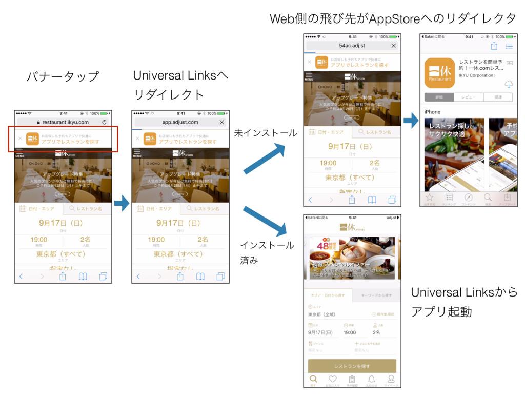 Universal Links ϦμΠϨΫτ όφʔλοϓ Webଆͷඈͼઌ͕AppStor...