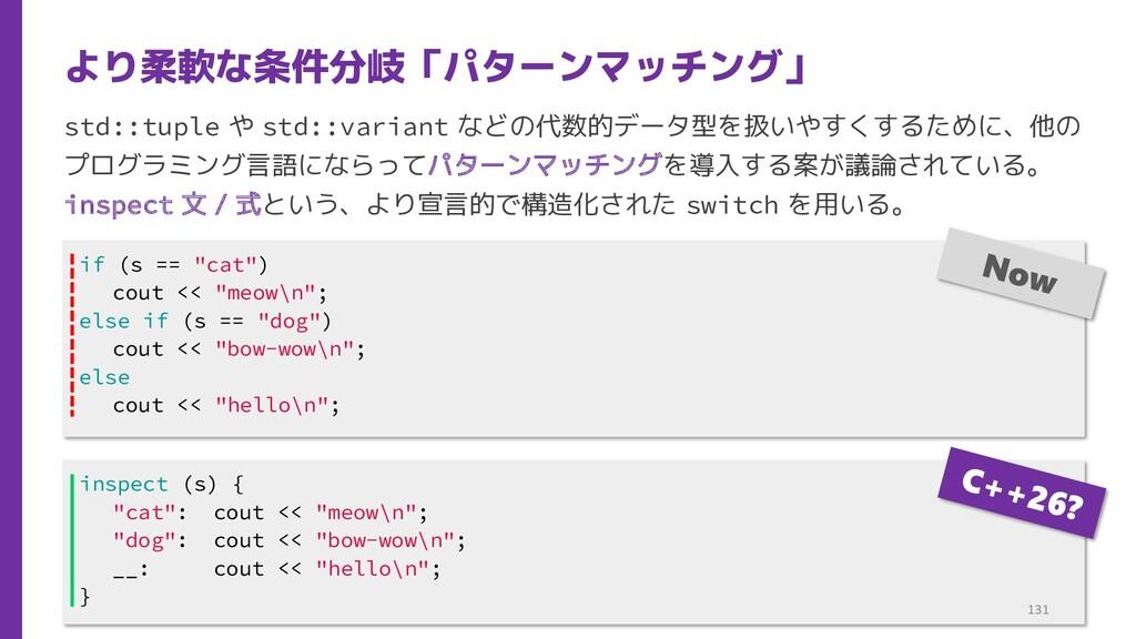 std::tuple や std::variant などの代数的データ型を扱いやすくするために...
