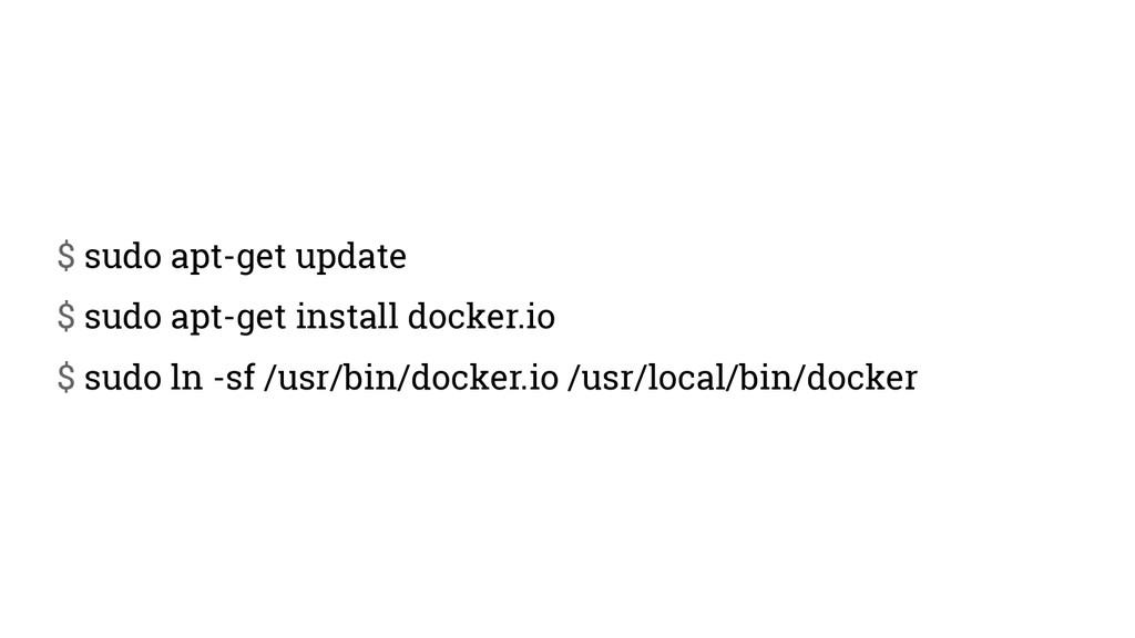 $ sudo apt-get update $ sudo apt-get install do...