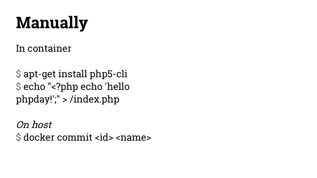 Manually In container $ apt-get install php5-cl...