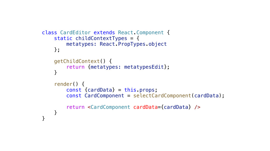 class CardEditor extends React.Component { stat...