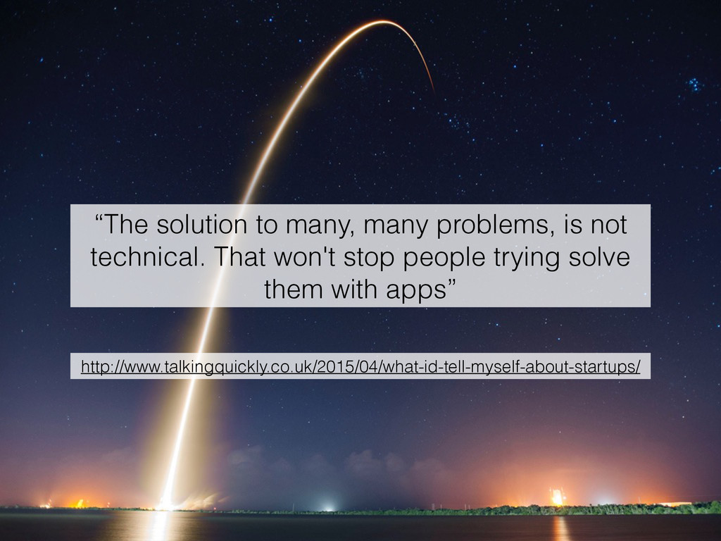 """The solution to many, many problems, is not te..."