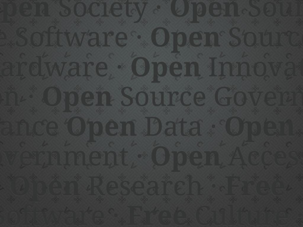 Open Society · Open Sour e Software · Open Sour...