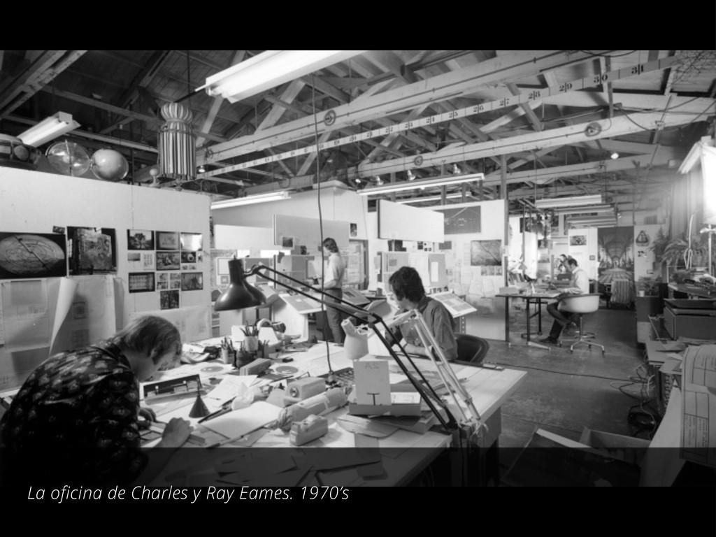 La oficina de Charles y Ray Eames. 1970's