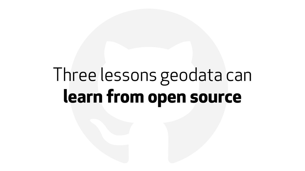 ! Three lessons geodata can 
