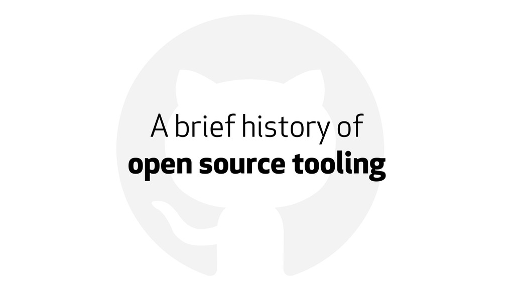 ! A brief history of 