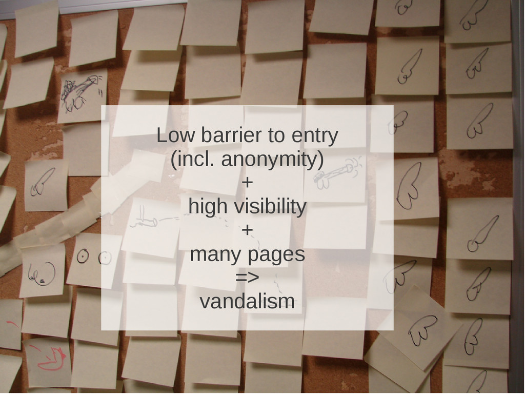 Low barrier to entry (incl. anonymity) + high v...