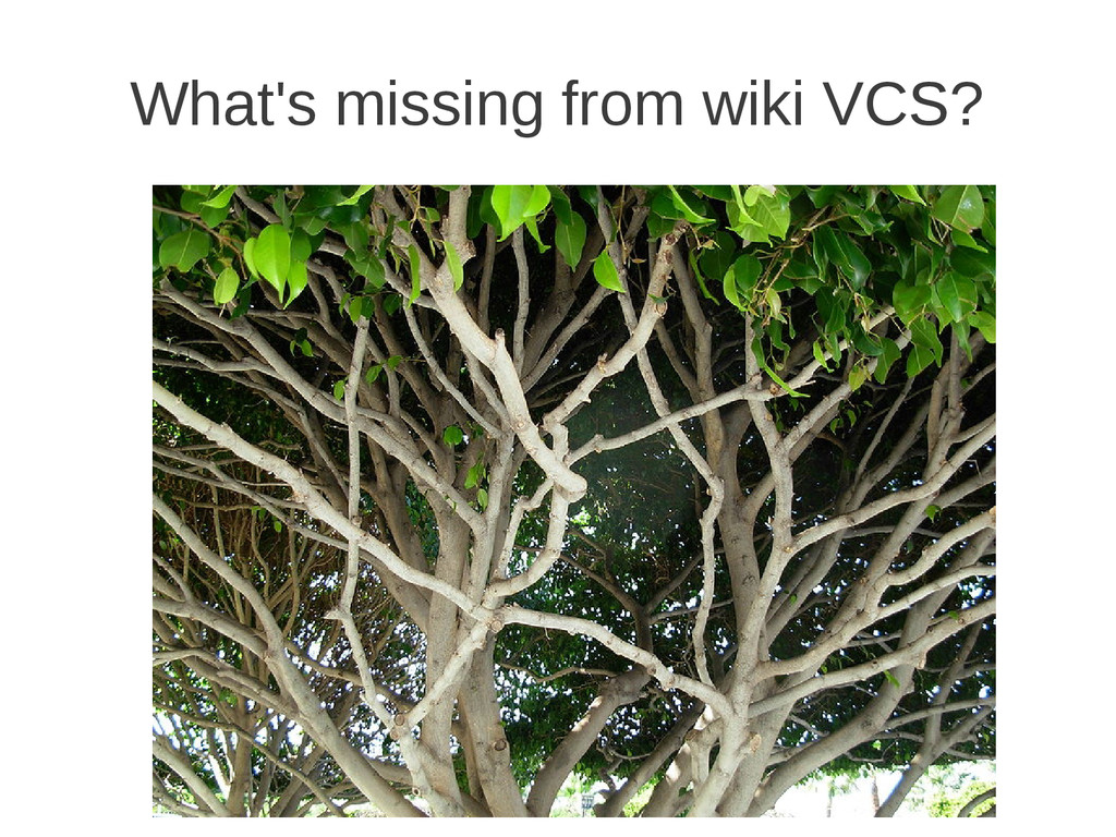 What's missing from wiki VCS?