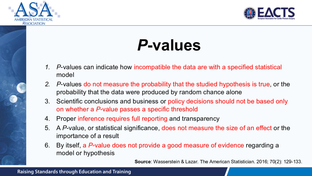 P-values 1. P-values can indicate how incompati...