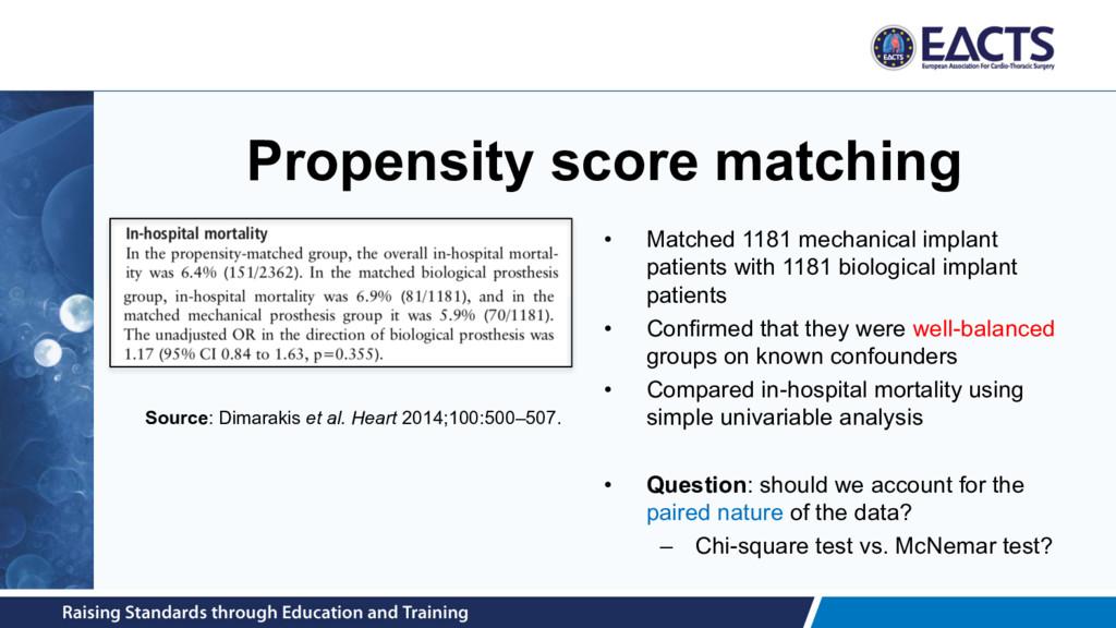 Propensity score matching • Matched 1181 mechan...