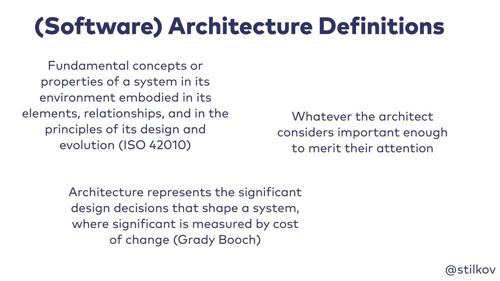 @stilkov (Software) Architecture Definitions Fu...