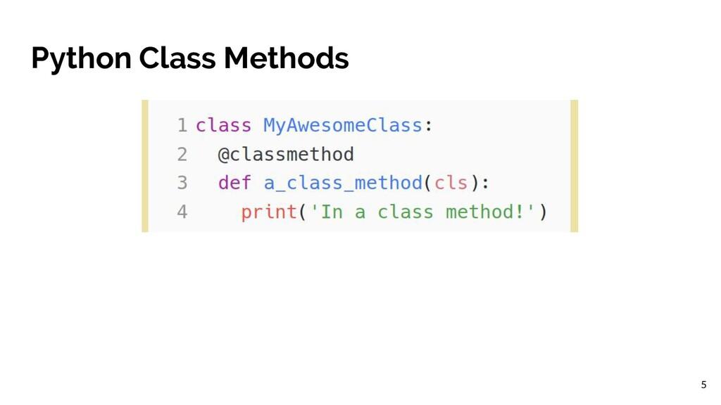 Python Class Methods 5