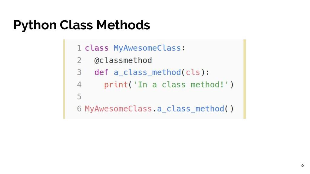 Python Class Methods 6