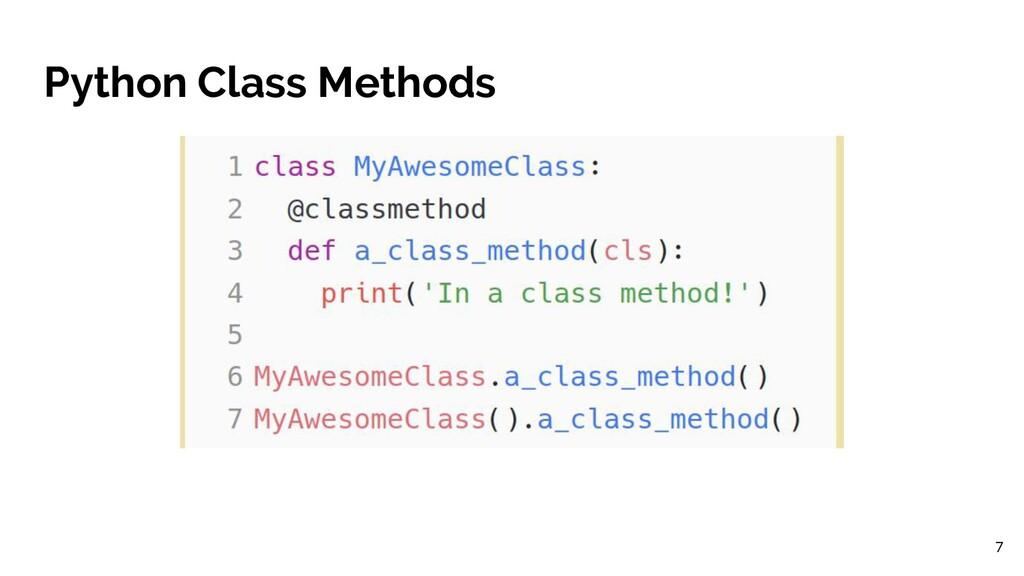 Python Class Methods 7