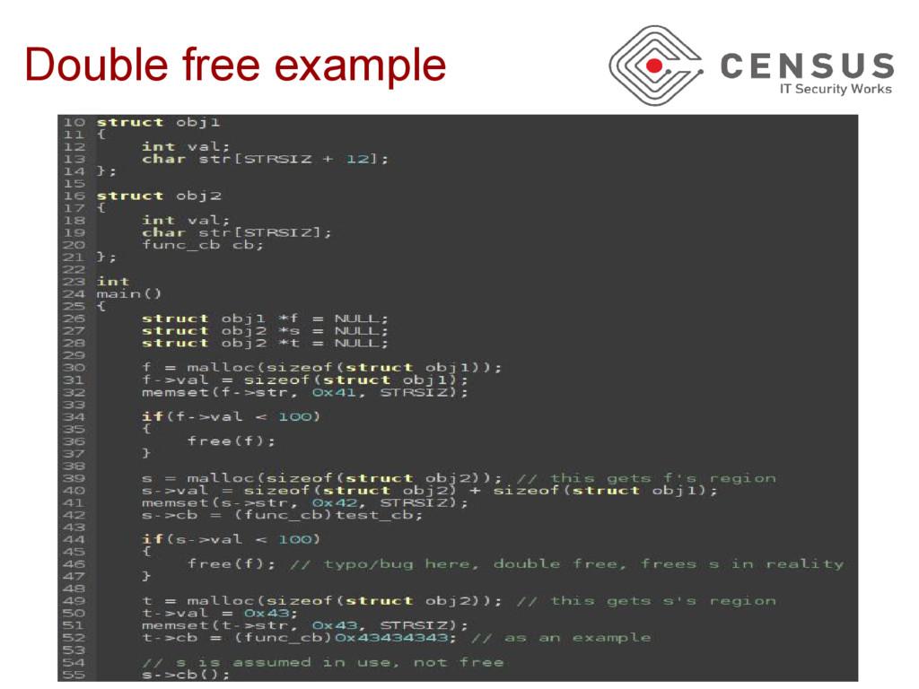 Double free example