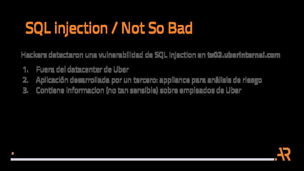 SQL injection / Not So Bad Hackers detectaron u...