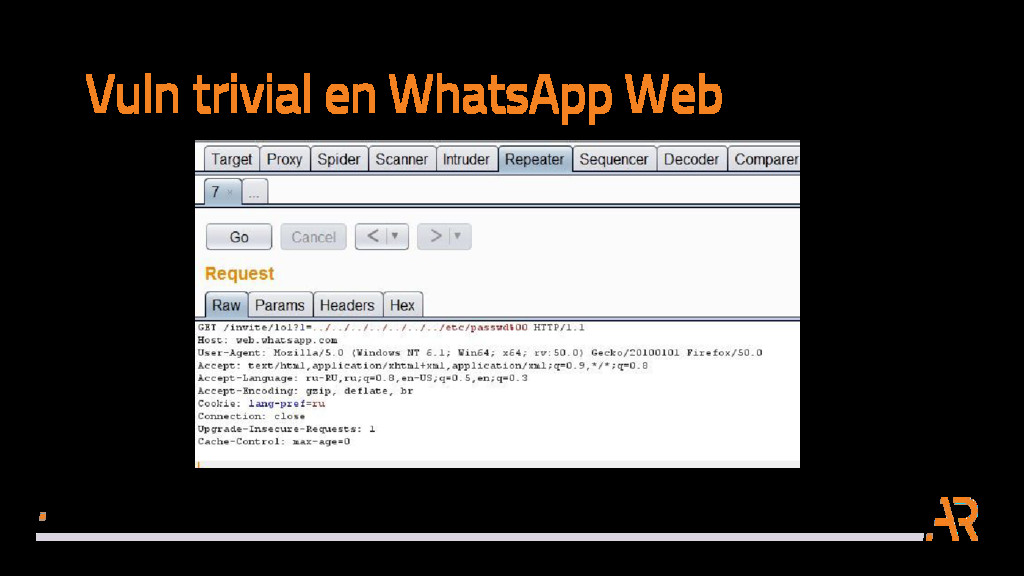Vuln trivial en WhatsApp Web