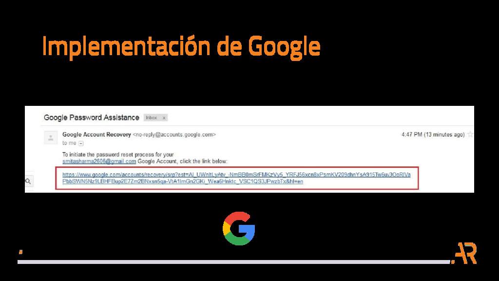 Implementación de Google