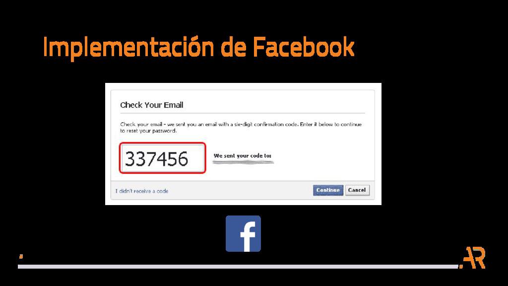 Implementación de Facebook