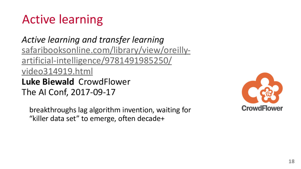 Active learning Active learning and ...