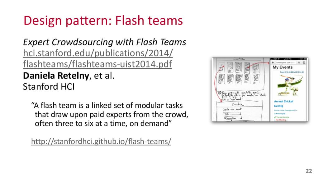 Design pattern: Flash teams Expert ...